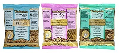 Tinkyada Organic Gluten-Free Brown Rice Pasta 3 Shape Variety Bundle: (1) Elbow Pasta, (1) Spirals Pasta, and (1) Penne Pasta, 12 Ounce Ea. from Food Directions Inc.