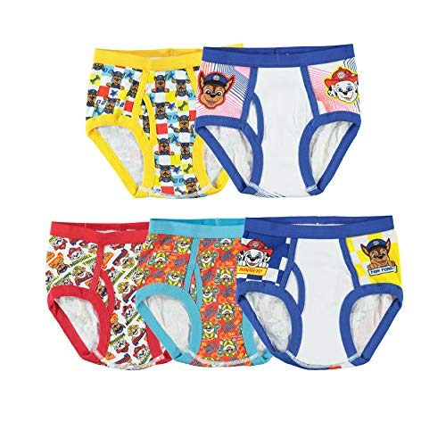 Handcraft Little Boys' Paw Patrol  Brief (Pack of 5), Assorted, 6 (Toddler Boy Briefs 5t)
