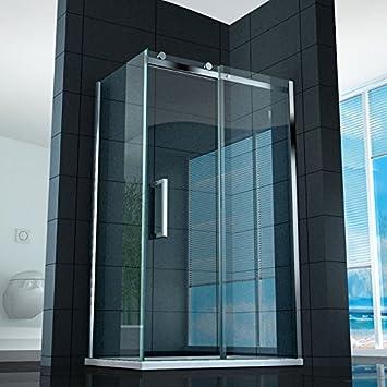 Mampara de ducha corredera, 8 mm de abertura 70 x 140, 75 x 140 cristal transparente: Amazon.es: Bricolaje y herramientas
