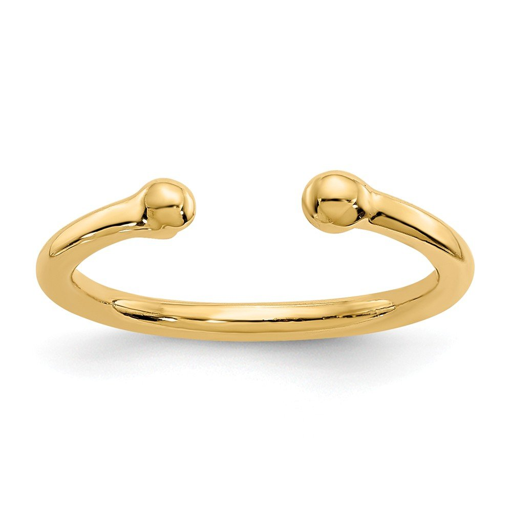 Bead Toe Ring in 14 Karat Gold by The Black Bow