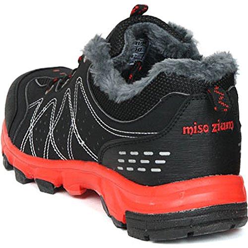 Nya Kvinna Bergsbestigning Vandring Snö Vinter Vandring Varma Skor Svart