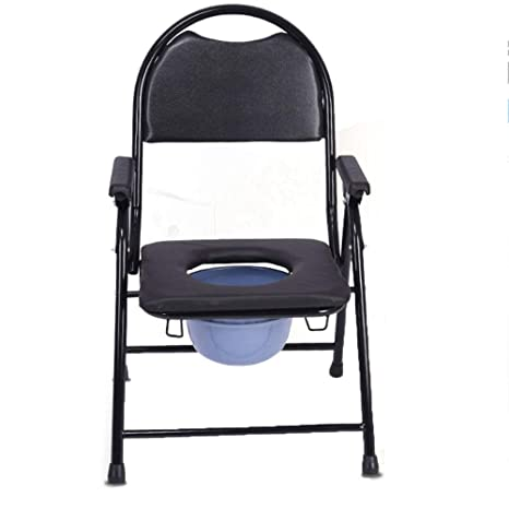 Amazon.com: Oli Bathroom Stool Bath Chair Potty Chair Old Man Shit Stool Folded Reinforced Non-Slip Seniors Go to The Toilet Home: Sports & Outdoors