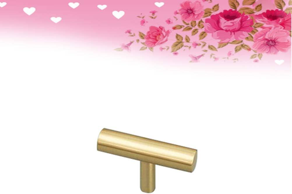 dorado Vosarea Mueble de armario con tirador de lat/ón para colgar con botones de material de la sudadera lat/ón 1 unidad 5x3.3x1cm