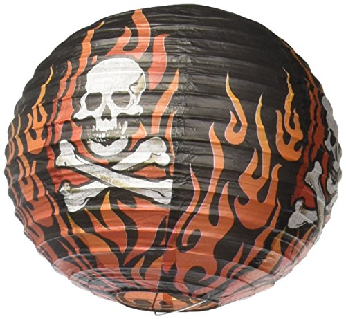 amscan Rock On Heavy Metal Themed Party Round Printed Lanterns Decoration, Paper, 9