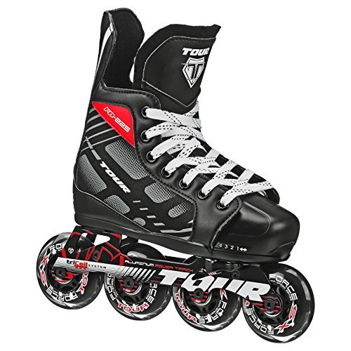 Tour Hockey 38TY-S FB-225 Adjustable Inline Hockey Skate,Small ( Size 11-1 ) by Tour Hockey – DiZiSports Store