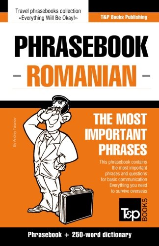 English-Romanian phrasebook and 250-word mini dictionary...