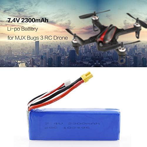 Aggiornato 7.4V 2300mAh 2S Li-po Batteria Ricaricabile con Spina XT30 Ricambi Accessori per MJX Bugs 3 B3 RC Drone