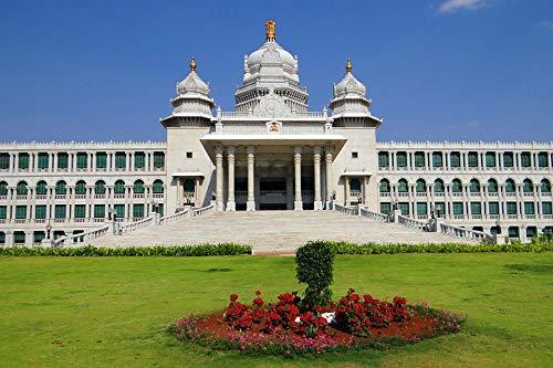 Home Comforts Canvas Print Belgaum Legislative Building Suvarna Vidhana Soudha Vivid Imagery Stretched Canvas 32 x ()
