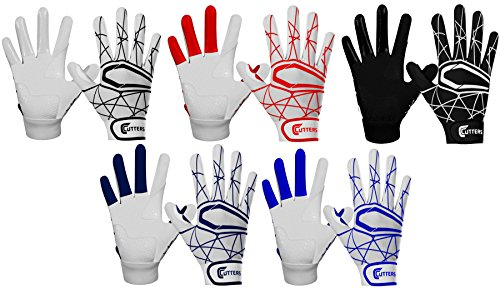 Cutters Gloves Youth Lead Off 2.0 Batting Gloves, White/Black, (Cutter Baseball Batting Gloves)