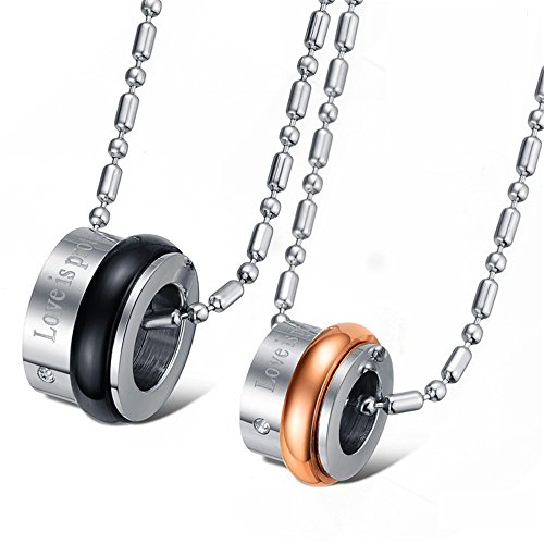 JewelBeauty Titanium Stainless Steel Couples Necklace