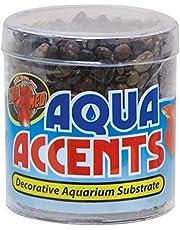 Zoo Med Laboratories AZMBA3 Aqua Accents Midnight Black Sand, 1/2-Pound