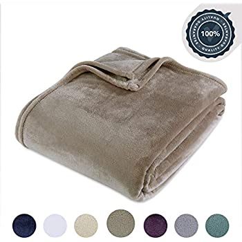 Berkshire Blanket Luxury Plush VelvetLoft Bed Blanket, King, Desert Taupe