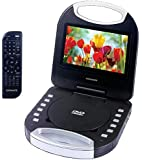 Magnavox MTFT750-RD Red 7 Inch Portable DVD Player With Remote Control, And Car Adapter, TFT Screen, CD Player