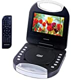 Magnavox Black 7 Inch Portable DVD Player With Remote Control, And Car Adapter, TFT Screen, CD Player (MTFT750-BK)