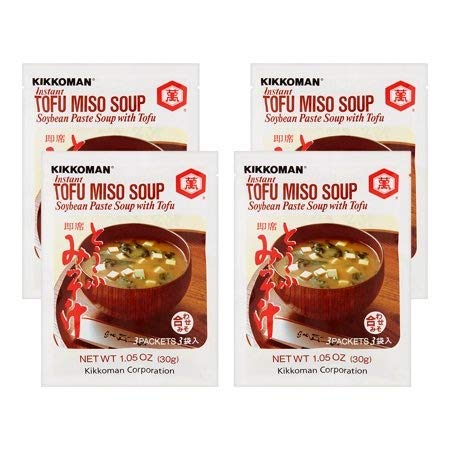 Kikkoman Miso Soup Tofu Instant, 1.05-Ounce Units (Pack of 12)