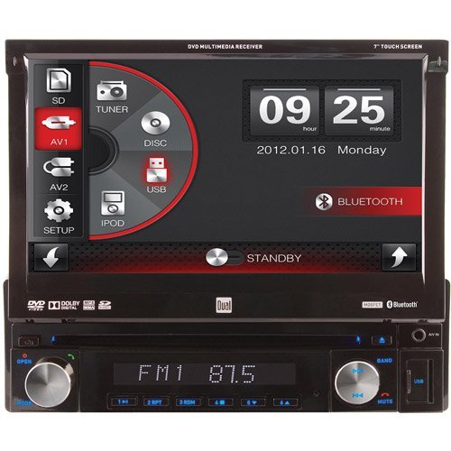 "Dual Electronics XDVD110BT 7"" Touchscreen AV CD/DVD Receiver with Bluetooth"