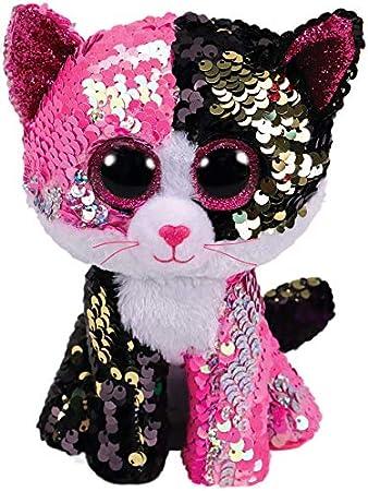 Ty – Flippables – Peluche de Lentejuelas Malibu el Gato: Amazon.es: Juguetes y juegos