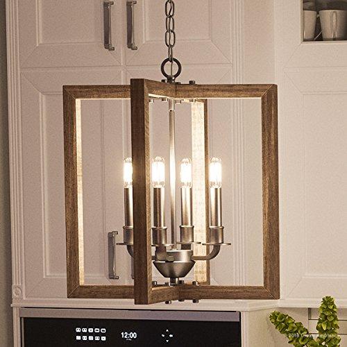 Amazon.com: Lujo moderno Farmhouse estilo rústico lámpara de ...