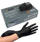 Nitrilhandschuhe puderfrei schwarz Black Tiga 100 Stück Größe Medium ohne Latex Einmalhandschuhe...