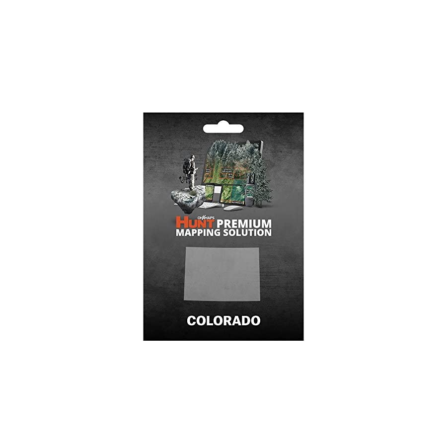 Colorado Hunting Maps: onX Hunt Chip for Garmin GPS Public & Private Land Ownership Game Management Units Includes Premium Membership for onX Hunting App for iPhone, Android & Web