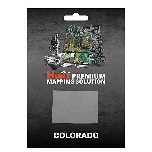 onXmaps HUNT Colorado: Digital Hunting Map For Garmin GPS + Premium Membership For Smartphone and Computer - Color Coded Land Ownership - 24k Topo - Hunting Specific Data