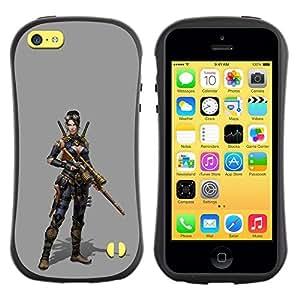 """Hypernova Slim Fit Dual Barniz Protector Caso Case Funda Para Apple iPhone 5C [Mujer Pc Juego de caracteres Guerra de combate""""]"""
