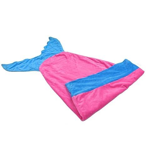 ma-on cola de sirena diseño de manta de cama de franela cálido sacos de