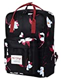 BESTIE 14' College Bookbag Backpack Cute for Women, Magnolia Black