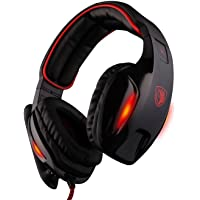 SADES SA902 7.1 Channel Surround USB Wired LED Gaming Headphone Headset with Mic for Black