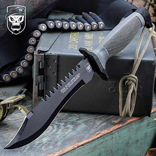 United Cutlery UC2689 One Shot One Kill Survival Bowie Knife and Sheath