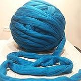 WEIYE Wool Thick Line Wool/yarn Hand Chunky Knitted Diy Blanket Thick Yarn Merino Wool Bulky Knitting Weave Your Favorite Blankets(Colors:grey)