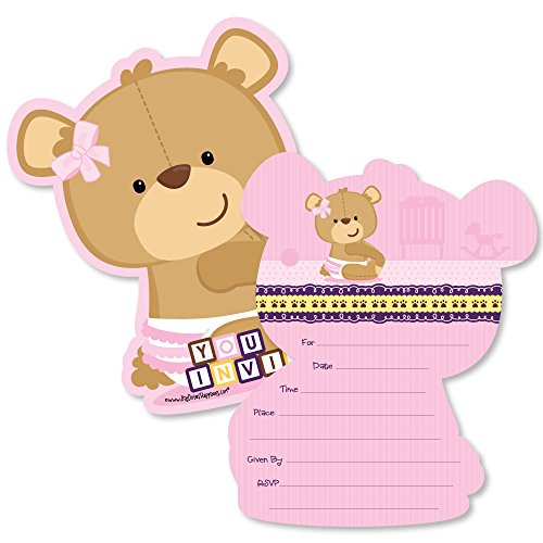 Amazon baby girl teddy bear shaped fill in invitations amazon baby girl teddy bear shaped fill in invitations baby shower invitation cards with envelopes set of 12 baby filmwisefo
