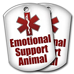 2 Emotional Support Animal ID Tags - 1 Low Price