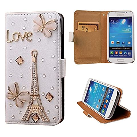 xhorizon TM Premium Leather Flip 3D Bling Rhinestone Diamond Crystal Stand Wallet Case ZY for iPhone 4/4s/5/5s/6/6 Plus Samsung GALAXY S3/S4/S5/Note2/Note3/Note4/S3 Mini/S4 (Cell Phone Cases Galaxy S 4 Mini)