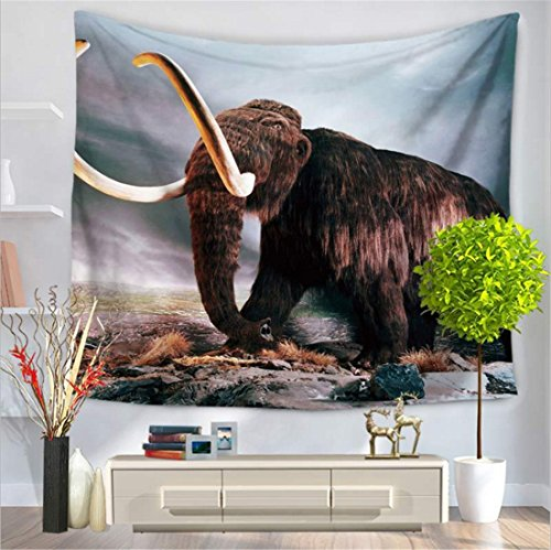 Tapestry /Mammoth/ animal elephant series / wall-mounted beach carpet / indoor and outdoor products / polyester fiber By MM-Maker ( Color : B , Size : 150130cm )
