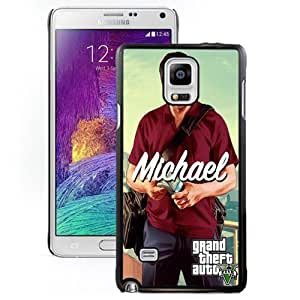 DIY and Fashionable Cell Phone Case Design with GTA 5 Michael with Money Bag Galaxy Note 4 Wallpaper