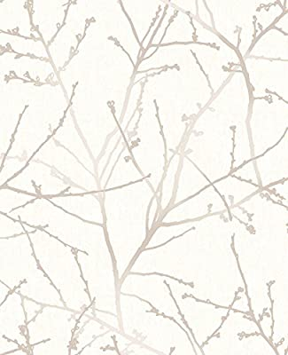 Superfresco Easy Paste the wall Karma Tree Natural Metallic Wallpaper