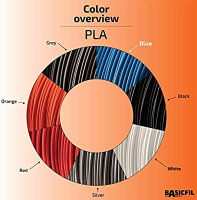 basicfil basicfil de PLA de Pen de Grey l/ápiz Pen Impresora 3d filamento para FDM Gris