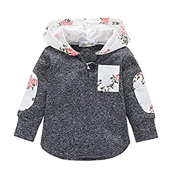 Fairy Baby Toddler Girls Floral Outfit Jacket Hoodies Outwear Coat Sweatshirt Warm Size 2T (Gray)