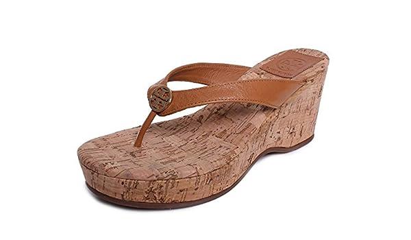 0fab34d07e7a Amazon.com  Tory Burch Flip Flop Suzy Cork Wedge Thong Sandal (9 ...