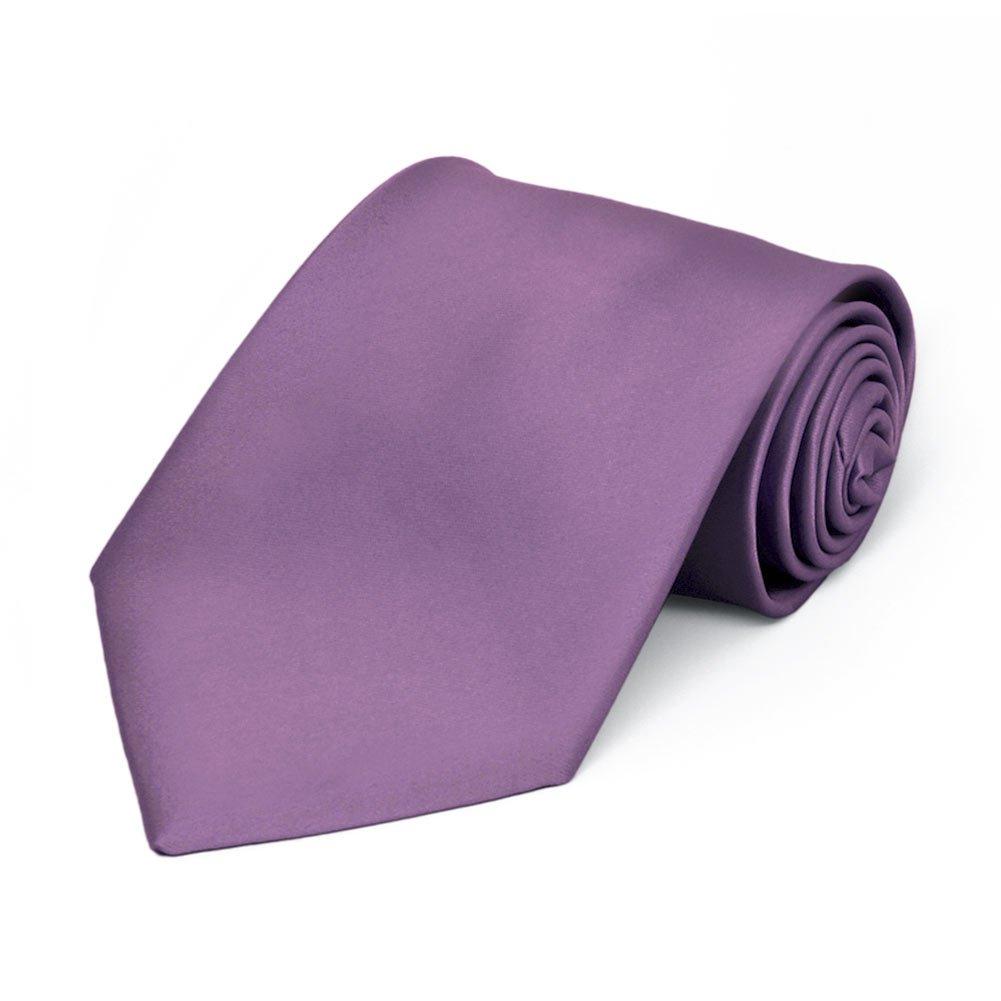 TieMart Boys Wisteria Purple Premium Solid Color Tie