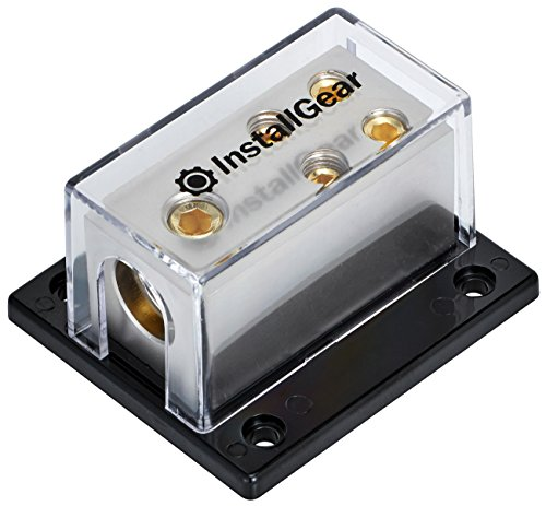 InstallGear 0/2/4 AWG Gauge Power Distribution Block 1/0 Gauge In to (4) 4/8 Gauge (Power Dist Block)
