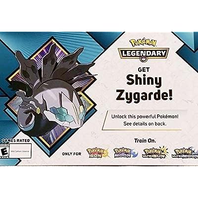 Pokemon Shiny Zygarde Gamestop Event Code 2020 Sun/Moon Ultra Sun/Ultra Moon: Toys & Games