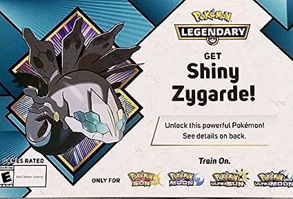 Pokemon Shiny Zygarde Gamestop Event Code 2018 Sun/Moon Ultra Sun/Ultra Moon