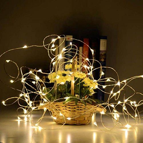 Fabal Solar Wine Bottle Cork Shaped String Light LED Night Fairy Light Lamp (10 LED, Warm White) by Fabal (Image #2)