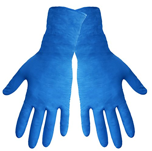 Global Glove 605PF Nitrile Medical Grade Glove, Exam, Powder Free, 6 mils Thick, 12'' Length, Extra Large (Case of 1000) by Global Glove