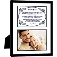 2nd Anniversary Gift – Love Poem for Husband, Wife, Boyfriend or Girlfriend on Second Anniversary - Photo Mat in 8x10 Inch Frame - Add Photo
