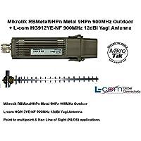Mikrotik RBMetal9HPn Metal 9HPn 900MHz Outdoor + 900MHz 12dBi Yagi Antenna NLOS