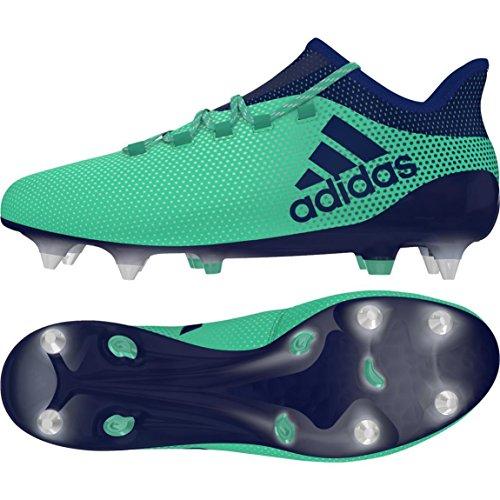 adidas X 17.1 SG, Scarpe da Calcio Uomo Verde (Aergrn/Uniink/Hiregr Aergrn/Uniink/Hiregr)