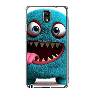 Hard Plastic Galaxy Note3 Cases Back Covers,hot 3d Monster Cases At Perfect Customized Black Friday